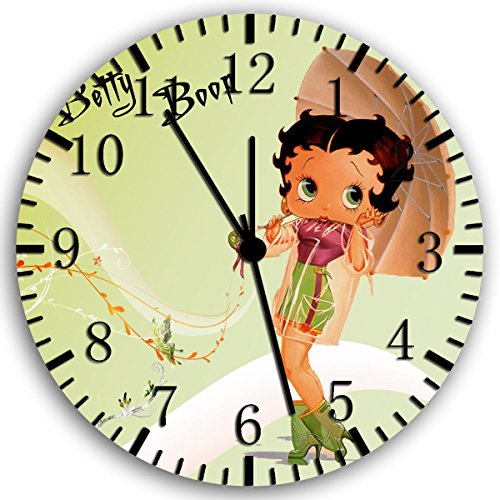Borderless Betty Boop Frameless Wall Clock W158 Nice for Decor Or Gifts