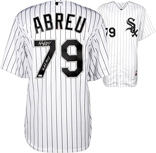 Jose Abreu Chicago White Sox Autographed Cool Base Authentic White Jersey with 14 ROY Inscription - Fanatics Authentic Certified (White Jersey Roy)