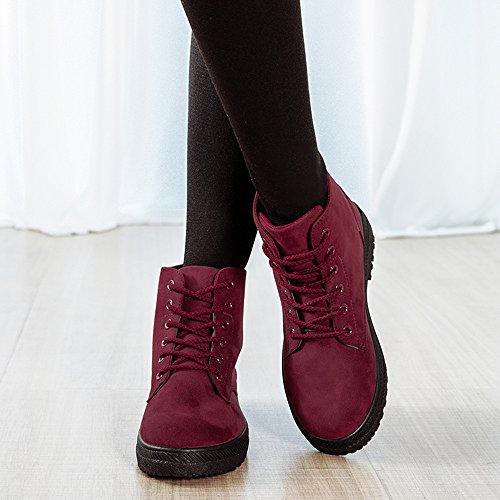 Calzature e da CUSTOME Sneaker Neve Rosso Stivali Caldo Scarpe Autunno Cotone Stivali Morbide di Donna Delicatamente confortevole Invernali Piatto neve Moda USwStxq6