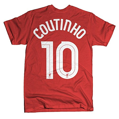 Official Liverpool F.C. Philippe Coutinho #10 T-shirt-Red-Small