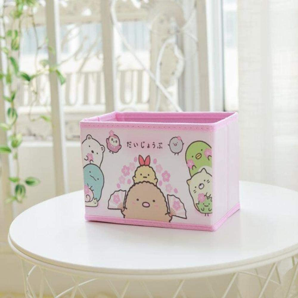yqs Storage Box Dirty Hamper Basket Dirty Dirty Clothes Hamper Laundry Hampers,Cartoon Pink Cherry Blossom Laundry Hampers Fashion Design Thick Large-Capacity Collapsible Storage Bag Durable with Han