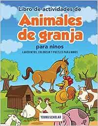 Libro de actividades de animales de granja para ninos