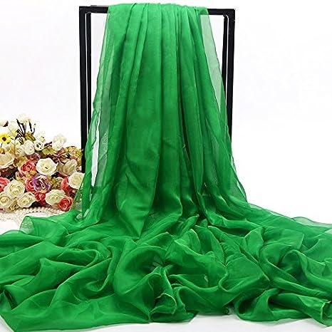 LLZWJ® - Chal/Mono / decoración/Regalo / Bufanda Mujer Salvaje Bufanda Larga Parasol Toalla de Playa multifunción Bufanda Chal, Verde: Amazon.es: Deportes y ...