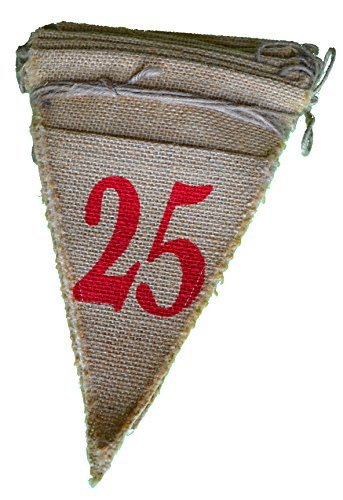 Firefly Craft Burlap Countdown to Christmas Calendar for Kids or Adults||