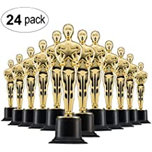 """Prextex 6"""" Gold Award Trophys for Award Ceremony's or Party (24 Pack)"""