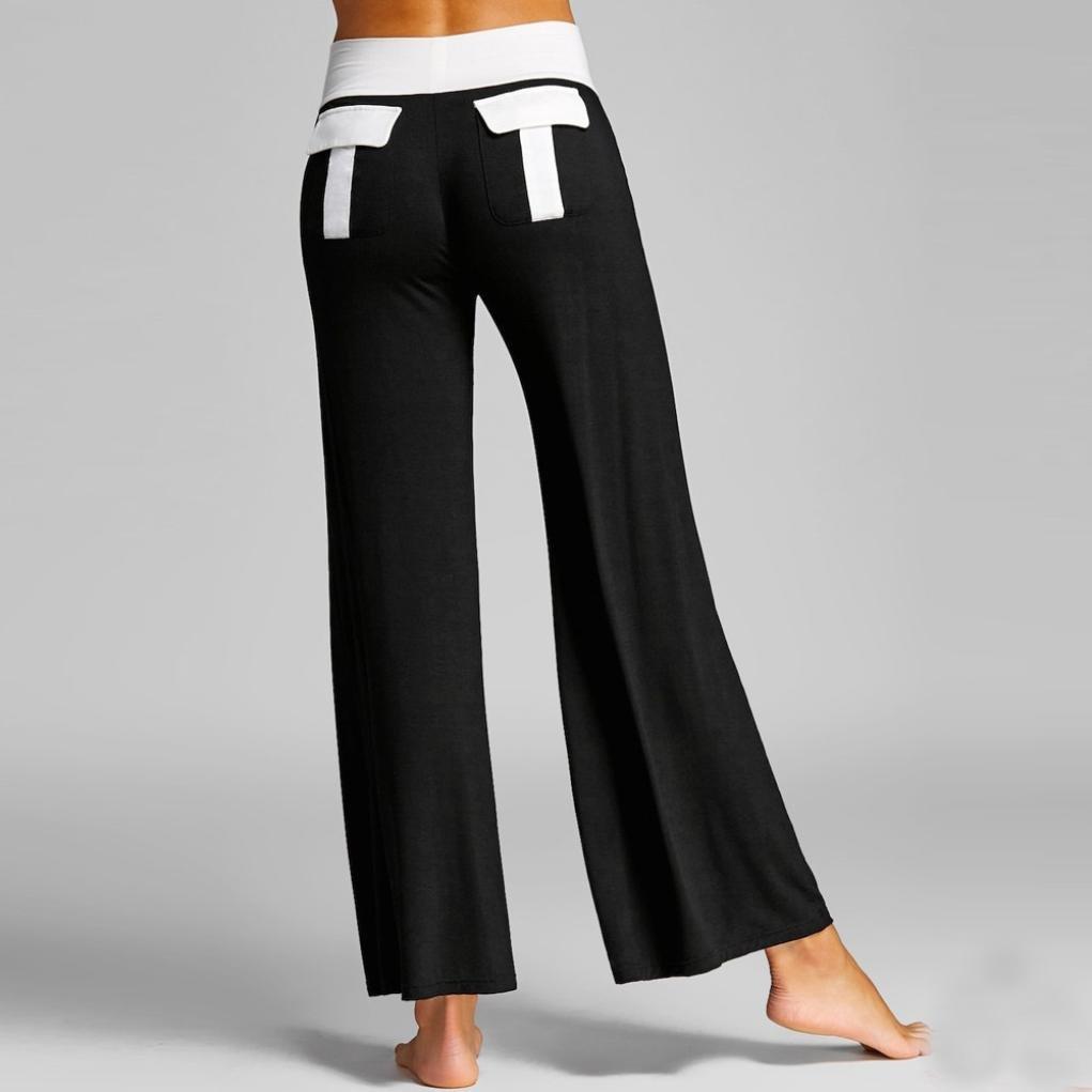 Mikkar Womens Leggings Trousers Yoga Sport Print Casual Pants Fashion Pocket