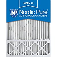 Nordic Pure 20x25x5 (4-3/8 Actual Depth) Lennox X6673 Replacement MERV 12 Pleated AC Furnace Air Filter, Box of 2, 2 Piece
