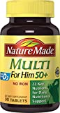 Nature Made Multi For Him 50+ Tablets w. D3 – 22 Essential Vitamins & Minerals 90 Ct