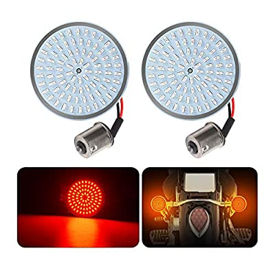 LED Turn Signal Light for Harley Davidson Sportster Road Glides, Dynas, Road Kings Softails,1156 Bullet Style Inserts Rear Turn Light(2pcs): Automotive
