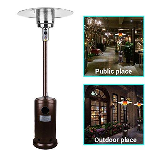 Hehilark Patio Heaters, Outdoor BBQ Gas Patio Heater 12KW Using Butane Gas Total Height 7.6ft/232cm(81.3x81.3x232cm)