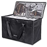 Large Insulated Food Delivery Bag - Cherrboll Commercial Grade Reusable Grocery Tote Lunch Box - Lightweight for Shopping, Restaurants, Catering, Uber Eats, Pizza Carry (23.5 x 11.5 x 13)