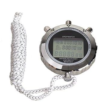 Cronómetro digital cuarzo Countup temporizador reloj calendario para atleta Gimnasio Entrenamiento: Amazon.es: Hogar
