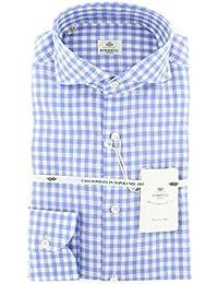 New Borrelli Blue Check Extra Slim Shirt