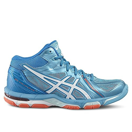 Zapatillass GEL-VOLLEY ELITE 3 MT WHITE / SILVER / HOT CORAL 2016 Asics azul claro