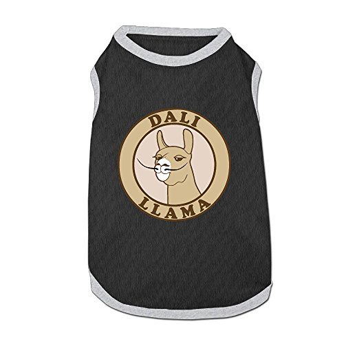 Llama Dog Costume (Dali Llama Fashion Pet T-Shirt, Small Dog Cat Vest Clothes Puppy Shirt Designed For Small Breed Dogs And Cats M Black)