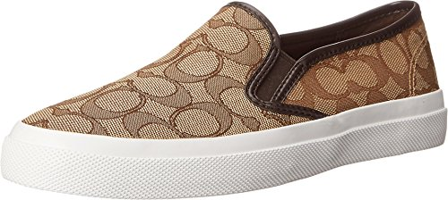 Coach Chrissy Womens Signature Slip On Sneakers Shoes Brown Size (Coach Womens Shoes Sneakers)