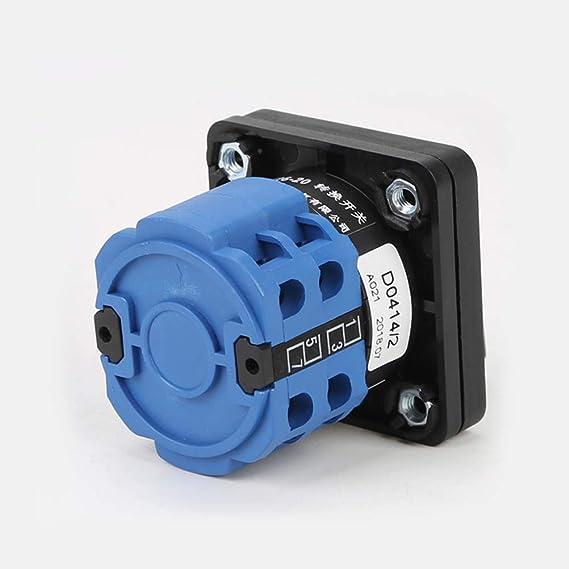 Hemobllo Interrupteur de Commutation 220/V 20/A Interrupteur de s/élection s/électeur /à 3/Positions Bleu