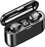 Wireless Earbuds, Bluetooth 5.0 Graphene bass Hi-Fi Headphones with 1500mAh LED Charging Case, IPX7 Waterproof TWS in…