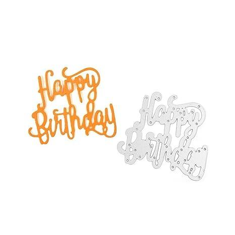 Amazon.com: c-pioneer feliz cumpleaños diy troqueles de ...