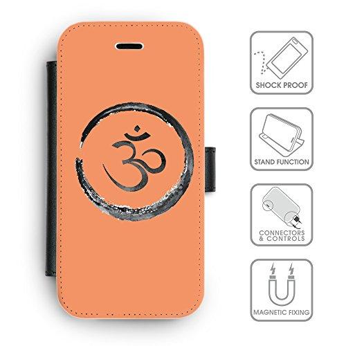 Flip PU Leather Wallet Case avec des fentes de carte de crédit // Q07660607 Bouddha 1 Mandarine // apple iPhone 6s 2015