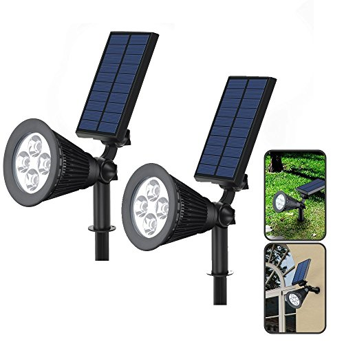 2pcs Solar Lamps INorton 5V 2W Outdoors Solar Light with IP44 Waterproof , Solar Powered Security Light for Garden, Patio and Pathway by INorton