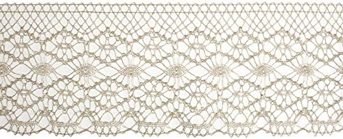 Light Gold Sold Per Metre Essential Trimmings Metallic Lace Trim