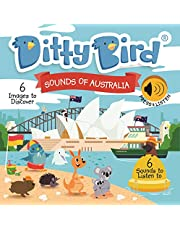 DITTY BIRD Baby Sound Book: Our Sounds of Australia Musical Book is The Perfect Toys for 1 Year Old boy and 1 Year Old Girl Gifts. Educational Music Toys for Toddlers 1-3. Award-Winning!