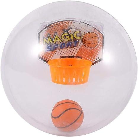 Mini juguete de baloncesto, bola transparente creativa con luz y ...