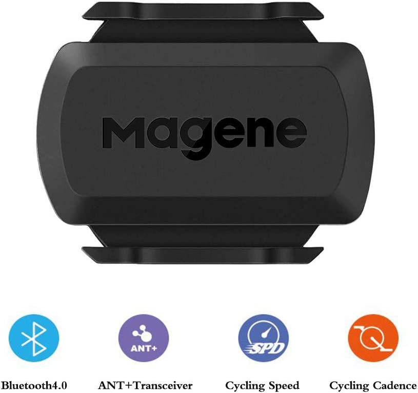 Magene S3+ Cycling Speed and Cadence Sensor, ANT+ and Buletooth 4.0 Wireless Bicycle RPM Sensor