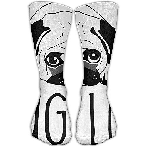 Pug Life Women & Men Socks Soccer Sport Tube Stockings Length 30cm