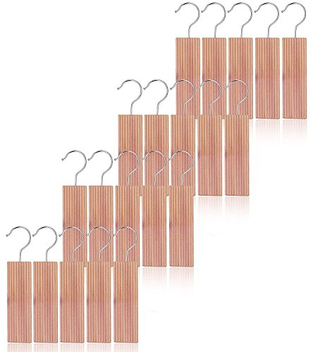 Blocks Hanging (kilocircle cedar hang ups for closet 20pcs nature moth repellent with cedar fragrance-standard size 6.5''x1.9''X0.5'')