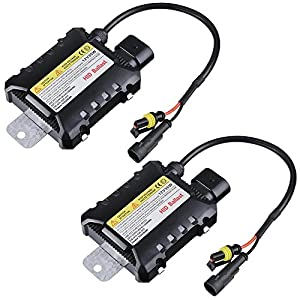 Yescom 12V 35W HID Ballast Replacement Universal for Xenon Light H1 H3 H7 H8 9005 9006 Pack of 2