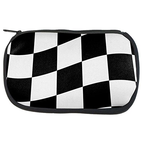 Finish Line Checkered Flag Wave Makeup Bag Multi Standard One Size