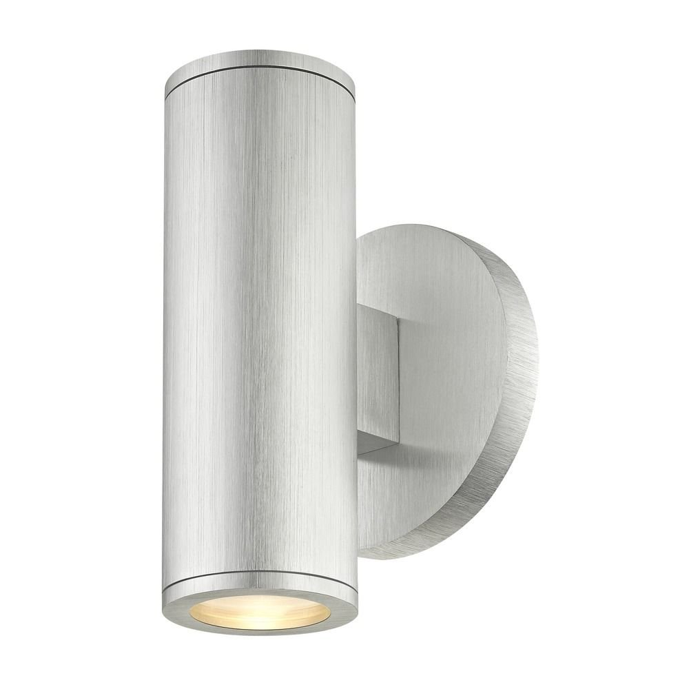 Cylinder Outdoor Wall Light Up/Down Brushed Aluminum by Design Classics (Image #1)
