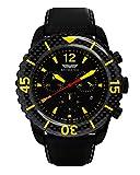 Skywatch CA Unisex Swiss Quartz 44mm Chronograph Black Watch (Model: CCI016-A)