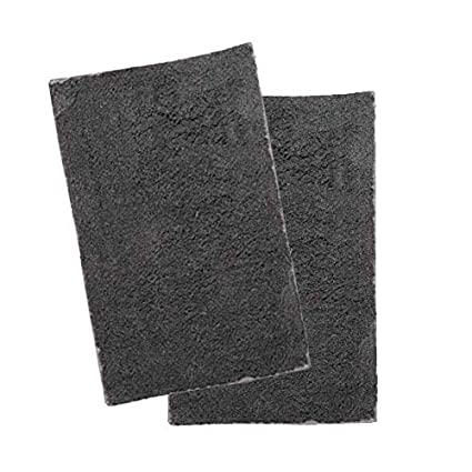 Home Delicate Grey Cotton Bath Rug Soft Non Slip Bath Runner Set of 2 Door Mat 17 by 24 Inches