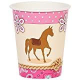 BirthdayExpress Western Cowgirl Party Supplies 9 oz Paper Cups (8)