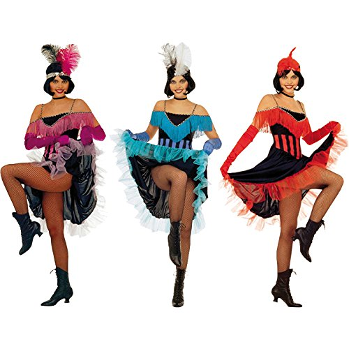 Ladies Can Can Girl 3 Cols Costume Medium Uk 10-12 For Wild West Saloon Girl (Can Can Saloon Girl Costume)