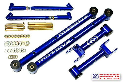 Made in USA BLUE PEARL COMPETITION SERIES Competition Upper, Lower Control Arm kit w/Brace Compatible w/ 68-72 GM A Body GS 350 455 Skylark Chevelle El Camino Monte Carlo Cutlass 442 Le Mans GTO
