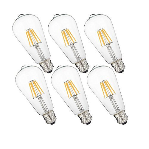Led Edison Bulb Dimmable St19 E26 Base 4w 2700k Vintage Led Globe
