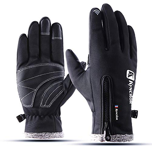YYGIFT Upgrade New Version Touch Screen Gloves Bicycle Gloves Cycling Outdoor Sports Wind-Stopper Gloves for Men and Women-Black ()
