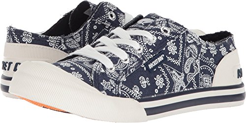 Rocket Dog Women's Jazzin SO Cali Cotton Sneaker, Navy, 8.5 Medium (Rocket Dog Zappos)