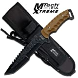 MTECH USA XTREME Mx-8062Tn Fixed Blade Knife, 12-Inch Overall
