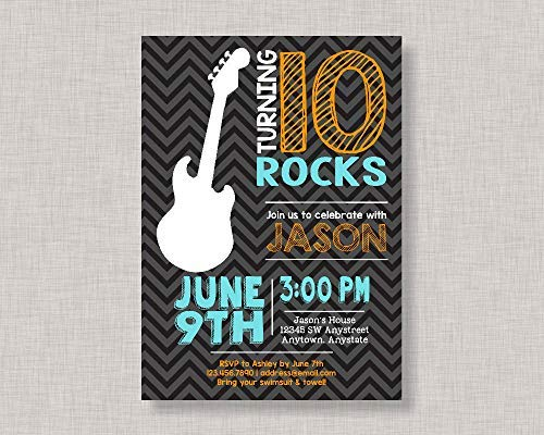 Wood Plaque Rock Star Invitation Rockstar Invitation Guitar Invitation Rock Star Birthday Music Invitation Wall Decor Wood Sign for Home Living Room Gardern Sign