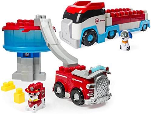 IONIX Jr. Paw Patrol Paw Patroller 38-Piece Lego Block Set and IONIX Jr. Paw Patrol Tower 28-Piece Lego Block Set (Prisoner Costume Target)