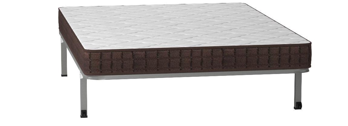 HOGAR24 ES Cama Completa-Colchón Viscobrown Reversible + Somier Basic + 4 Patas, 135x180