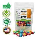 Hemp Gummies 2700 mg 90 ct | Bursting with USA Grown Organic Hemp Extract and Vitamins | Pain, Stress, Anxiety, and Sleep Relief