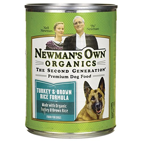 Newman's Own Organic Dog Food, Canned Turkey & Brown Rice Formula, 12.7 oz
