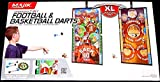 Kids Indoor Playtime Fun Majik Oversized 2 in 1 Football and Basketball Darts XL Double sided target Mat