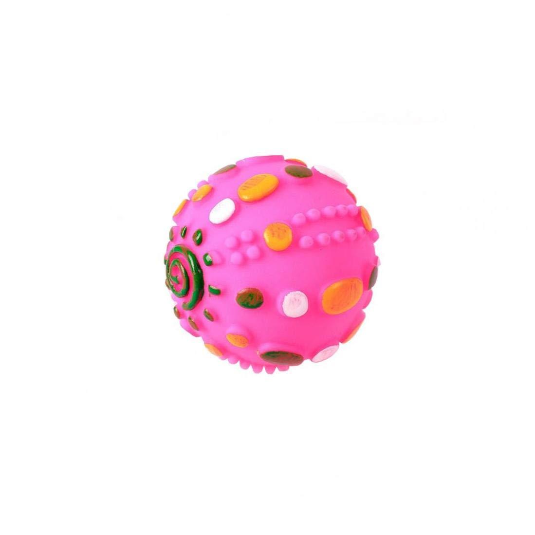 tJexePYK Bola Cubierta De Perro De Juguete 1pc Medio Squeaker De La Bola para Perros Peque/ños Y Cachorros De Perro De Juguete De Color Aleatorio